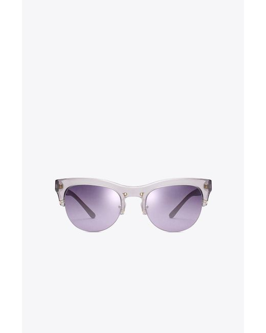 Tory Burch | Multicolor Stacked-t Sunglasses | Lyst