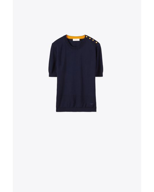 Tory Burch - Blue Preston Sweater - Lyst