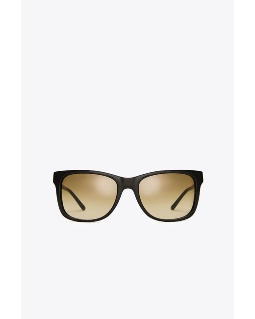 Tory Burch | Black Rectangle Frame Sunglasses | Lyst
