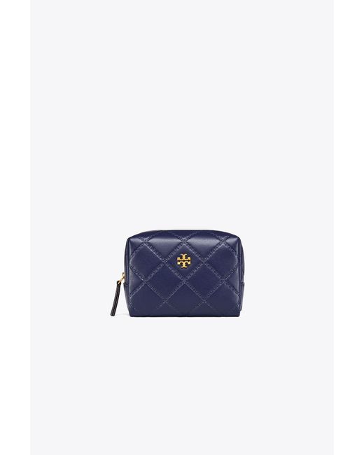 Tory Burch - Blue Georgia Small Makeup Bag - Lyst