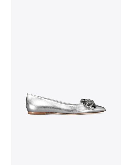 Tory Burch - Rosalind Metallic Embellished Ballet Flat - Lyst