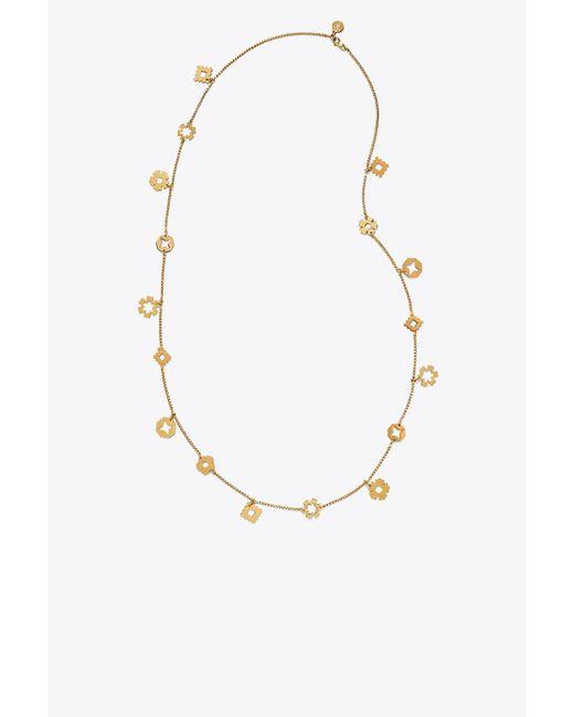 Tory Burch - Metallic Geo Charm Rosary - Lyst