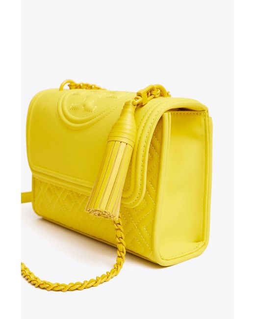 1e6fa9896e5e ... Tory Burch - Yellow Fleming Matte Small Convertible Shoulder Bag - Lyst  ...
