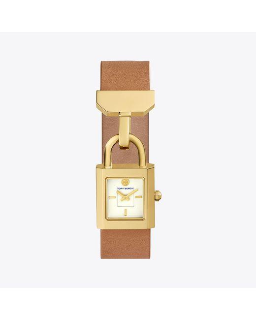 Tory Burch - Metallic Surrey Leather Luggage/gold - Lyst