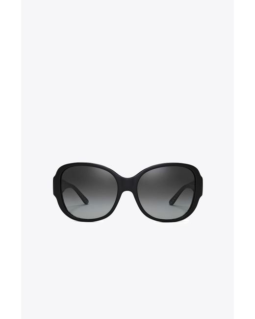 Tory Burch - Black Stacked-t Square Sunglasses - Lyst