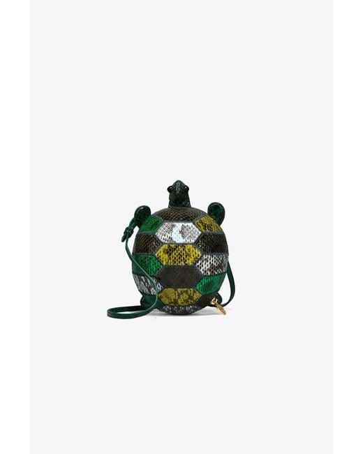 Tory Burch | Green Turtle Burch Mini Bag | Lyst