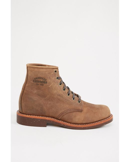 "Chippewa - Brown 6"" Crazy Horse General Utility Service Boot for Men - Lyst"