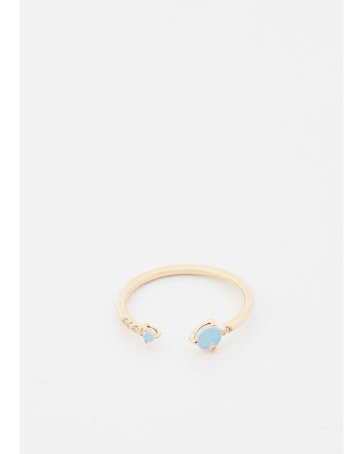 Wwake | Metallic 14k Gold/opal/wht Diamonds Open Opal And Diamond Ring | Lyst