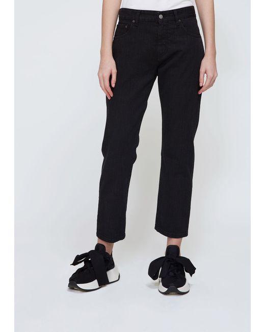 Lyst mm6 by maison martin margiela slim boyfriend jeans for 10 moulmein rise la maison