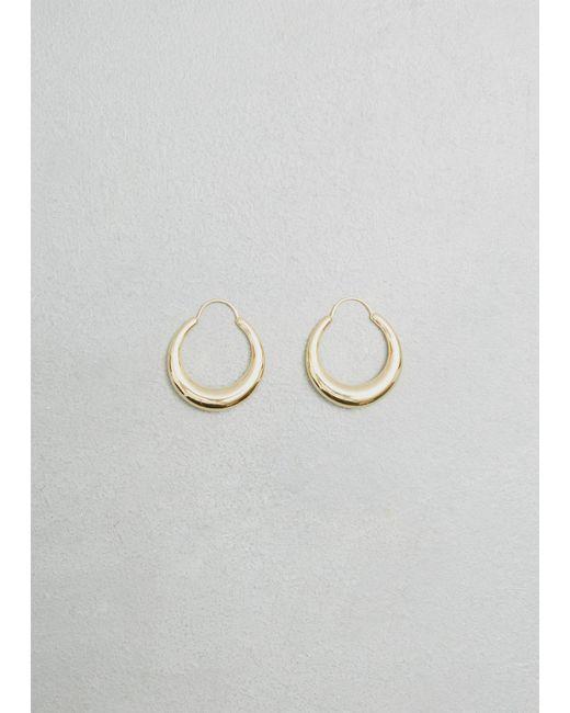 All_blues   Metallic Fat Snake Earrings   Lyst