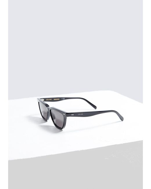 9d95878860 ... Céline - Black Square Cat-eye Sunglasses - Lyst