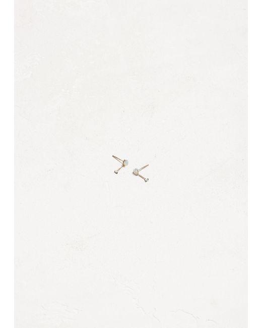 Wwake - Metallic Large Two-step Chain Earrings - Lyst