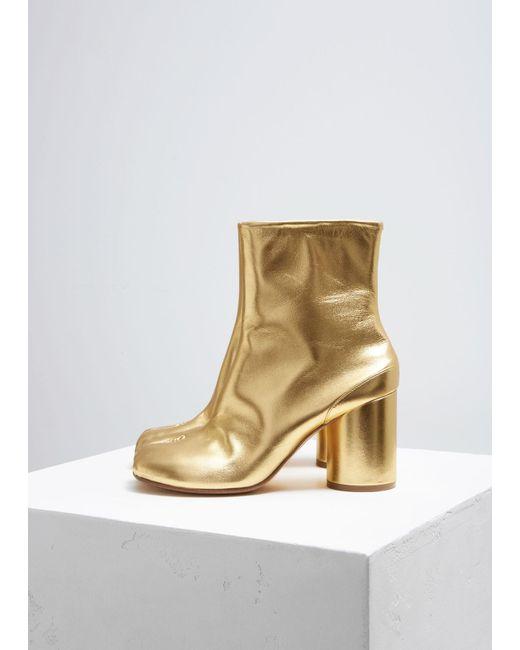 Maison Margiela - Metallic Tabi Boot - Lyst