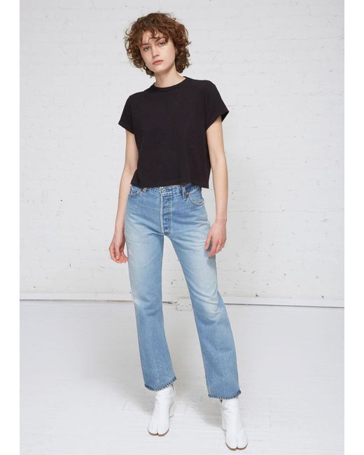 16ccd6e1961 Re/done - Black 1950s Boxy Tee - Lyst ...
