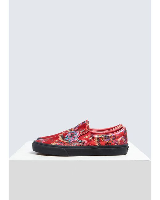53bca1d7a562ce Vans - Red Classic Slip-on Sneaker for Men - Lyst ...