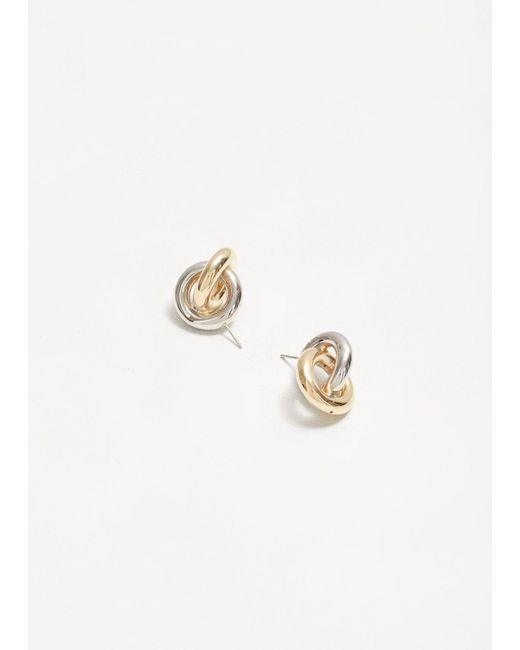 J.W. Anderson - Metallic Double Earrings - Lyst