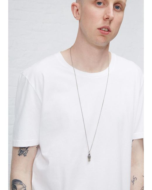 Maison Margiela | Metallic Old Silver Id Necklace for Men | Lyst