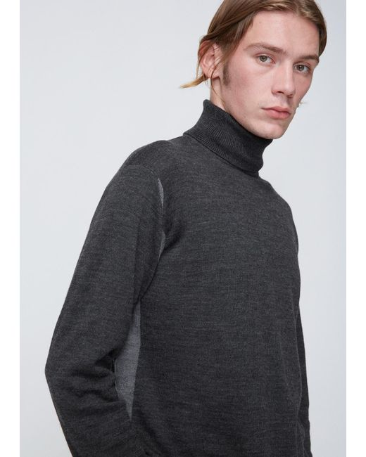 Issey Miyake | Gray Charcoal Grey High Gauge Turtleneck Knit for Men | Lyst