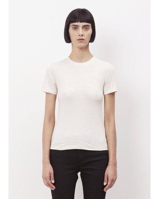 Acne | Natural Beige Melange Dorla Pc Crewneck T-shirt | Lyst