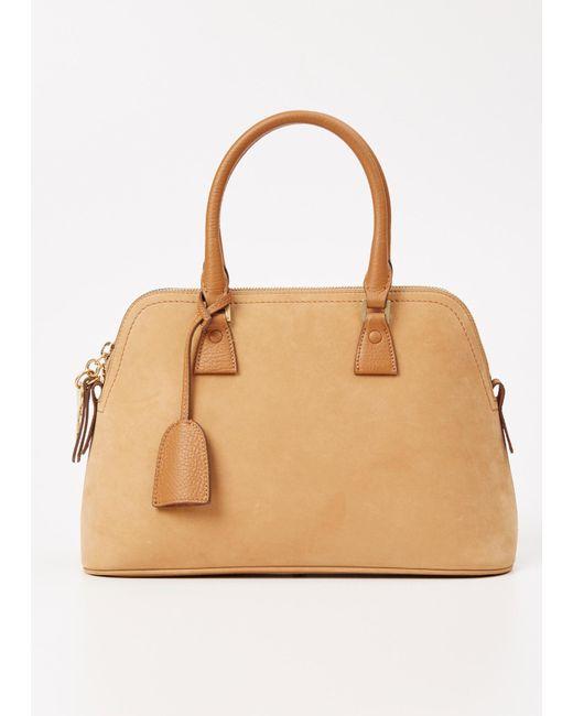 Maison Margiela | Natural Camel Small Suede 5ac Handbag | Lyst