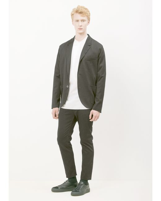 Lanvin Black Unconstructed Jacket in Black for Men