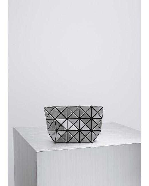 Bao Bao Issey Miyake | Metallic Silver Prism Shiny Small Pouch | Lyst