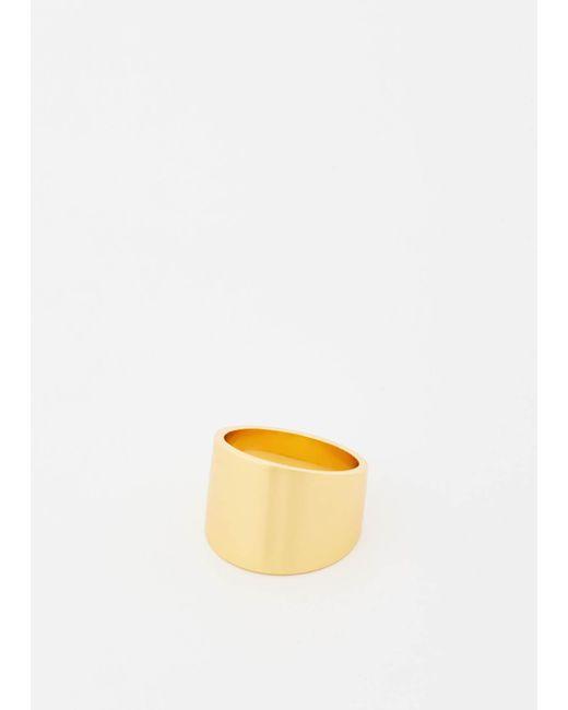 Gabriela Artigas   Multicolor Yellow Gold Cigar Band Ring   Lyst