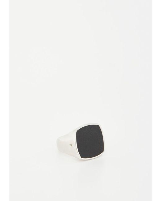 Tom Wood   Metallic Silver Cushion Black Onyx Ring   Lyst