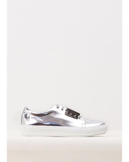 Acne | Silver Adriana Metallic Sneaker | Lyst