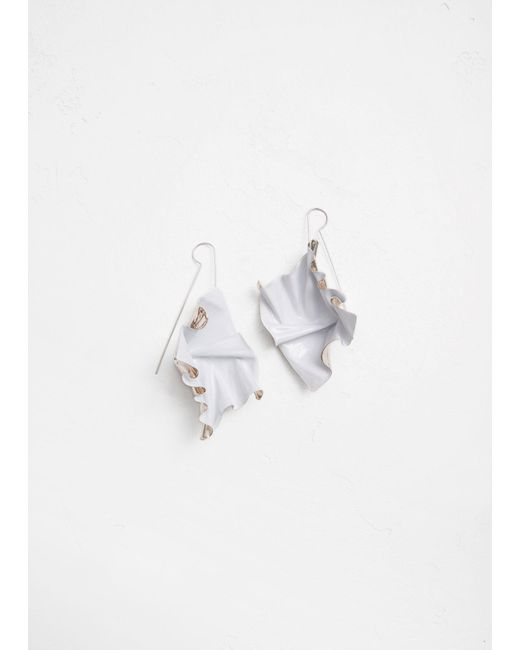 Closer by Wwake - White Painted Suspended Earrings - Lyst