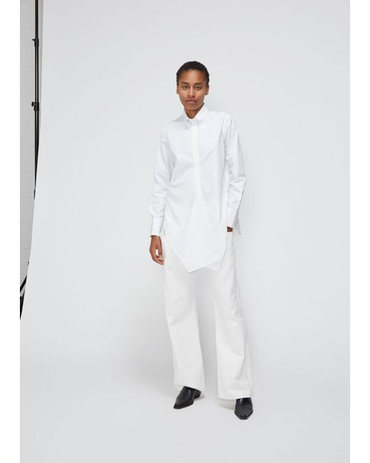 Ports 1961 - White Long Sleeve Button-back Shirt - Lyst