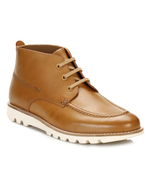 Kickers - Brown Mens Tan Kymbo Mocc Boots for Men - Lyst