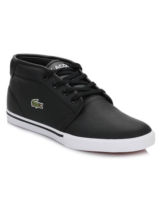 776b764719e1e4 Lacoste Mens Black Ampthill Trainers in Black for Men - Save 11% - Lyst