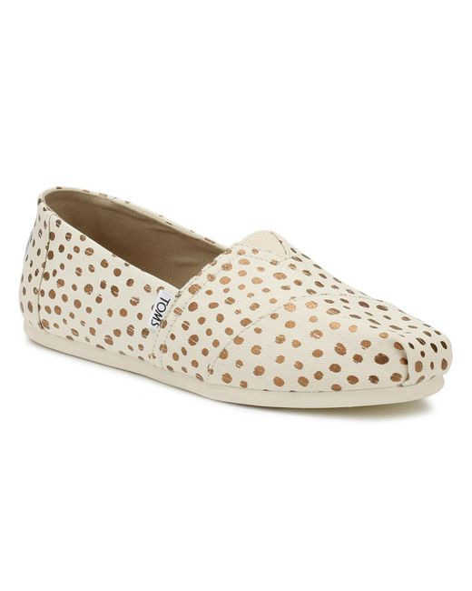 TOMS - Metallic Womens Natural / Rose Gold Polka Dots Classic Espadrilles -  Lyst ...