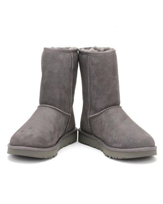bc927eca72f UGG UGG Womens Grey Classic Short Ii Boots in Gray - Lyst