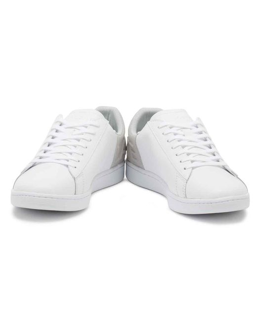 b723932f3c600b ... Lacoste - Womens White   Light Grey Carnaby Evo 318 3 Trainers - Lyst  ...