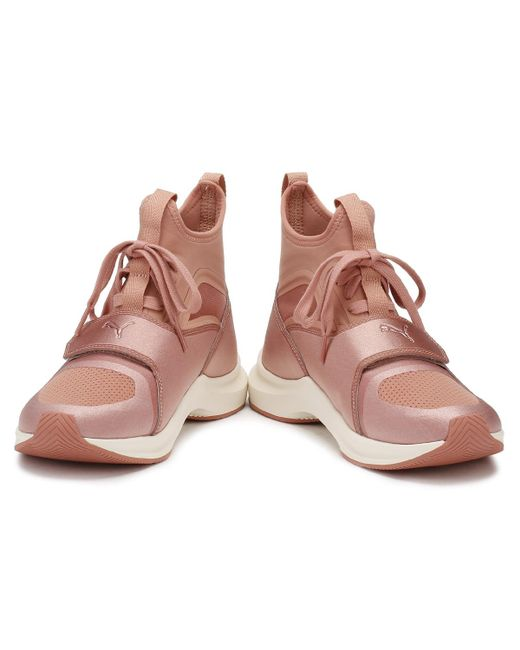 8e1267bce777 ... PUMA - Womens Selena Gomez Pink Phenom Trainers Women s Shoes (high-top  Trainers) ...