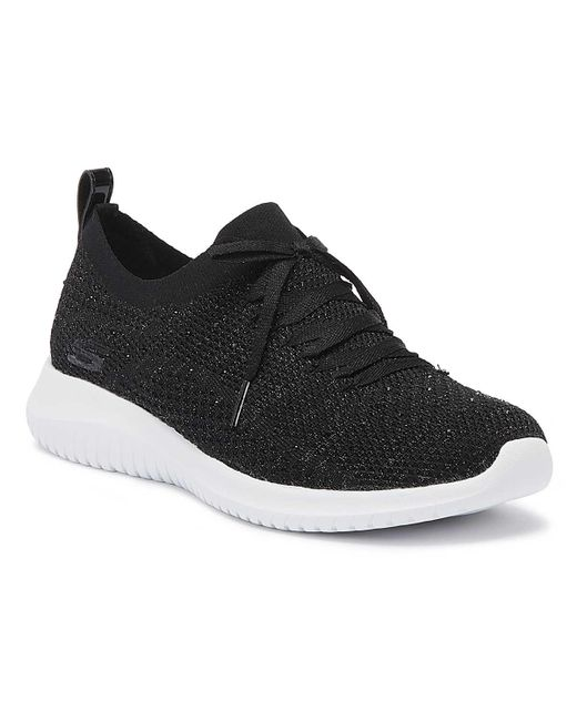 5d15b590b9e3 Lyst - Skechers Ultra Flex Strolling Out Womens Black Trainers in Black