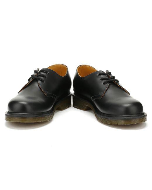 02d4493ca9b13 ... Dr. Martens - Dr. Martens Black 1461 Smooth Leather Smart Shoes for Men  ...
