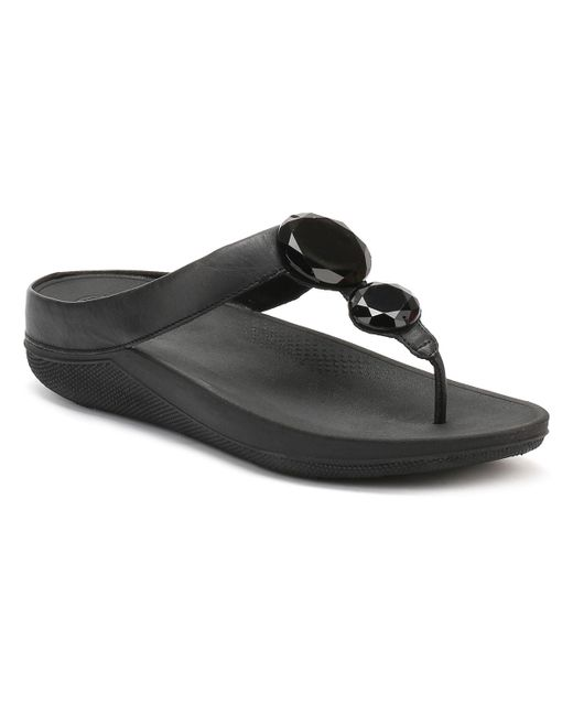 Fitflop | Womens Black Luna Pop Sandals | Lyst