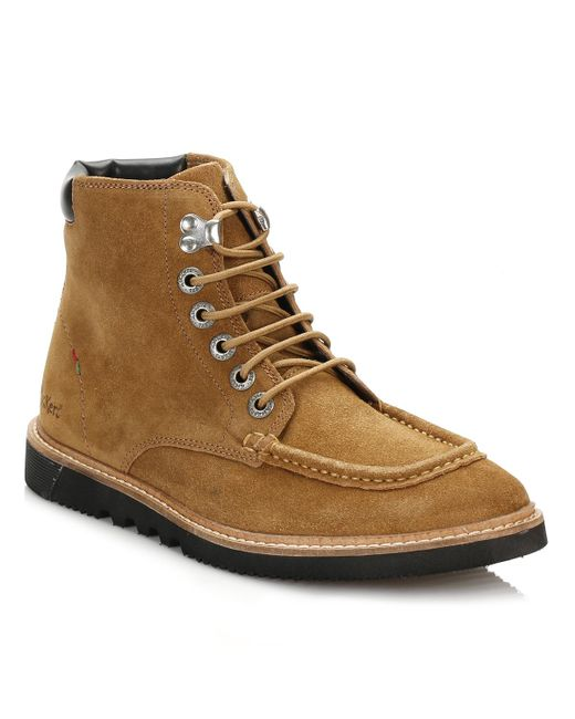 Kickers | Brown Mens Tan Kwamie Boots for Men | Lyst