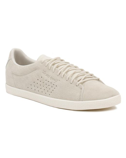 Le Coq Sportif | Natural Womens Beige Metallic Charline Trainers | Lyst ...