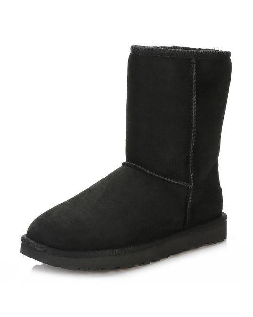 21877ffdd5a UGG UGG Womens Black Classic Short Ii Sheepskin Boots in Black - Lyst