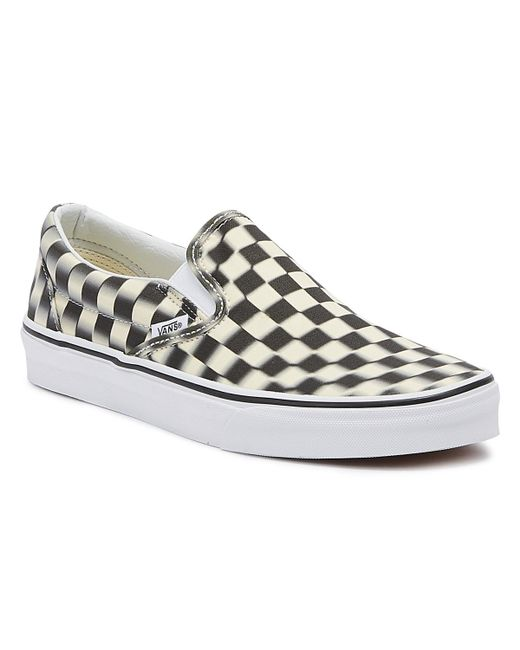 816fbbd8f952 Lyst - Vans Classic Slip-on Black Blur Checkerboard Trainers in Black