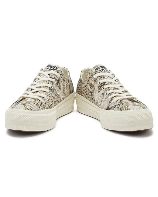 Natural Chuck Taylor All Star Lift Wild Womens Snake Ox Sneakers