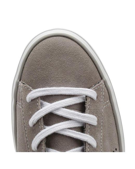 263f1d46915 ... Converse - Gray One Star Womens Grey Platform Trainers - Lyst ...