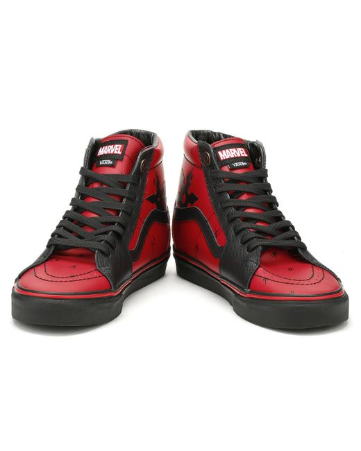 704ca75317 Lyst Black Marvel For Hi Deadpool Men In Sk8 Vans Trainers 77qwTprax