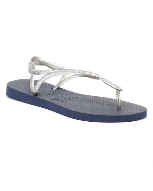 Havaianas   Blue Womens Navy/silver Luna Sandals   Lyst