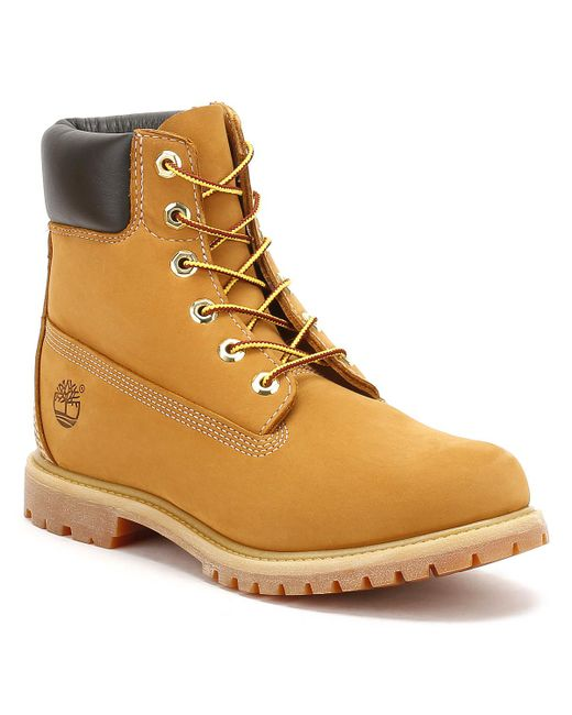Timberland - Brown Womens Wheat Premium 6 Inch Nubuck Leather Boots - Lyst