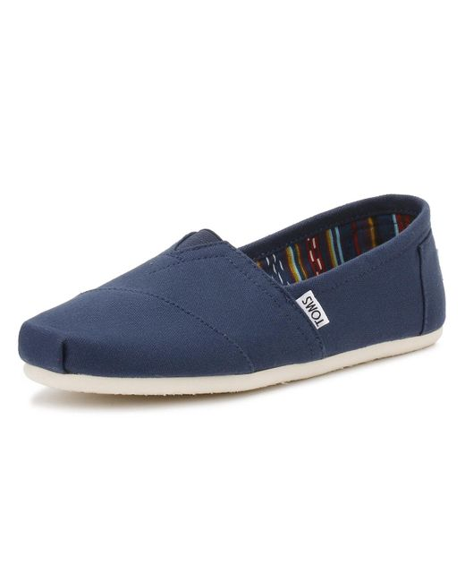 f0dd06ae454 ... TOMS - Blue Mens Navy Canvas Classic Espadrilles for Men - Lyst ...